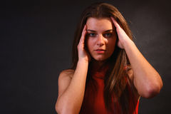 Attractive Girl In The Soft Light Royalty Free Stock Photos