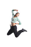 Attractive girl jumping Royalty Free Stock Photos
