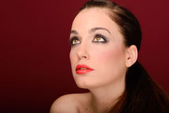 Attractive girl. Make up. Perfect skin Stock Photography