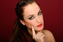 Attractive girl. Make up. Perfect skin Royalty Free Stock Image