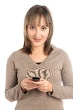 Attractive girl with mobile phone Stock Photography