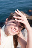 Attractive girl outdoors Stock Photography