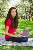 Attractive girl in the park. Stock Image