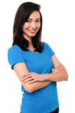 Attractive girl posing confidently Stock Image