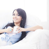 Attractive girl relaxing Stock Image