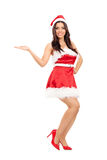 Attractive girl in Santa costume Royalty Free Stock Photography