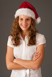 Attractive  girl in Santa Hat  Royalty Free Stock Photography