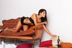 Alcohol seduction Royalty Free Stock Photo