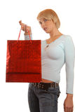 Attractive girl shopping Stock Photography