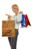 Attractive girl shopping Royalty Free Stock Photo