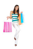 Attractive girl shopping Royalty Free Stock Photography