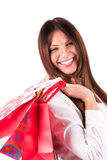 Attractive girl with shopping bags Royalty Free Stock Photography
