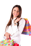 Attractive girl with shopping bags Stock Images