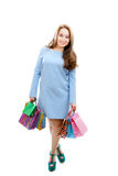 Attractive girl with shopping bags Royalty Free Stock Image