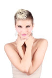 Attractive girl with short hair Royalty Free Stock Photos