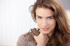 Attractive girl smiling Royalty Free Stock Photos