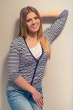 attractive girl smiling Στοκ εικόνες με δικαίωμα ελεύθερης χρήσης