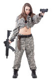 Attractive girl soldier Stock Photo
