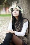 Attractive girl in spring Royalty Free Stock Images