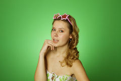 Attractive Girl Star Stock Photography