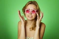 Attractive Girl star Stock Photos