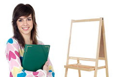 Attractive girl student Stock Image