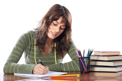 Attractive girl student Royalty Free Stock Images