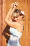 Attractive girl in the summer sunshine Royalty Free Stock Images