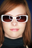 Attractive girl with sun glasses Stock Images