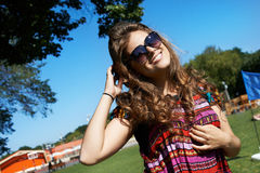 Attractive girl in sunglasses Stock Photography