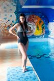 Attractive girl in swimming pool Royalty Free Stock Images