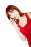 Attractive Girl Talking On Mobile Royalty Free Stock Photos