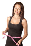 Attractive girl with tape measure Stock Photo