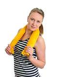 Attractive girl with towel Stock Photography