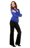 The attractive girl in trousers Stock Image