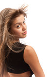 Attractive girl turning her head Royalty Free Stock Image