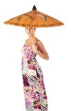 Attractive girl with umbrella Royalty Free Stock Photo