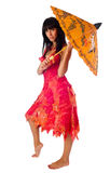 Attractive girl with umbrella Royalty Free Stock Images