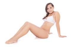 Attractive girl in underwear Stock Photos