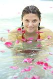 Attractive girl in water Royalty Free Stock Images