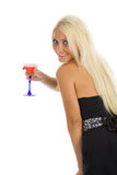 Attractive girl with wineglass in hand Stock Photo