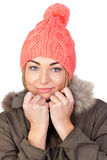 Attractive girl with winter clothes Stock Photography