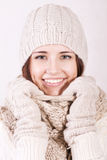 Attractive girl in winter clothes. Royalty Free Stock Photography