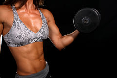 Attractive girl working out Royalty Free Stock Images