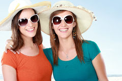 Attractive girlfriends in the summer day Royalty Free Stock Images