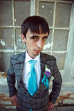 Attractive groom looking at you Royalty Free Stock Image