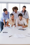 Attractive group of business people working together Royalty Free Stock Photography