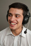 Attractive guy in ear-phones 2 Royalty Free Stock Images