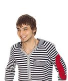 Attractive guy laughs Royalty Free Stock Photos
