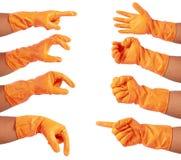 Attractive hands in glove Stock Images